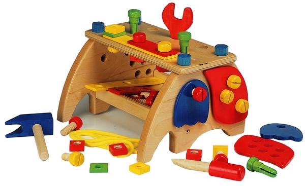 知育玩具 ふるさと割 おもちゃ 購買 訓練 トレーニング 色 ネジ 木製大工さんのベンチ 指 ツールセット 手先