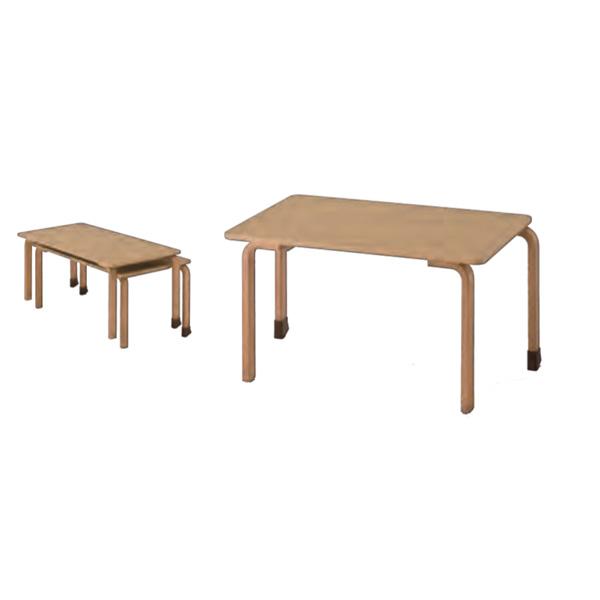 スタッキングテーブル S34 W1264×D600×H340mm 幅126cm 奥行60cm 高さ34cm 業務用 施設 保育園 幼稚園