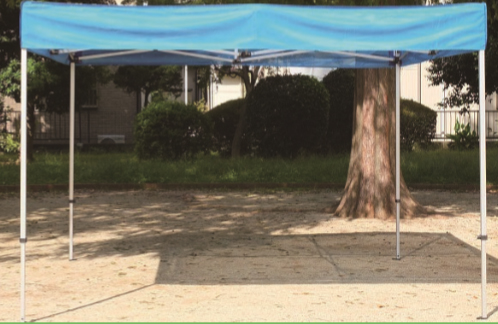UVフラットメッシュ遮光テント F3030 ワンタッチ式 青、緑、ピンク
