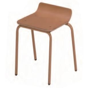 園児用背なし椅子 スチール脚 姿勢矯正 業務用 施設 保育園 幼稚園