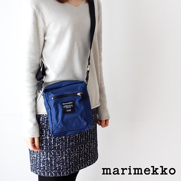 マリメッコ ( marimekko ) 『 Cash & Carry 』ショルダーバッグ / ナイトブルー .