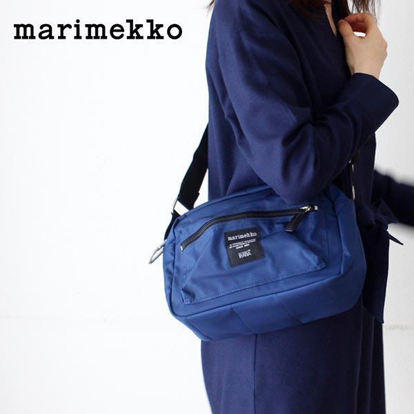 マリメッコ ( marimekko ) 『 MY THINGS 』ショルダーバッグ / ナイトブルー .