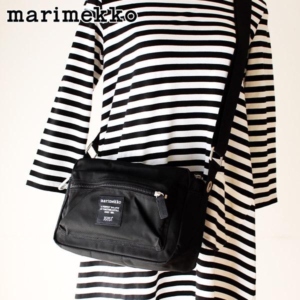 マリメッコ マイ シングス ショルダーバッグ / ブラック marimekko My Things shoulder bag 【 正規販売店 】