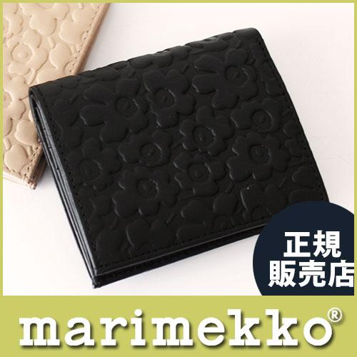 3つ折り ウニッコ型押しレザーウォレット KATRI 045491 2つ折り財布 marimekkoマリメッコ