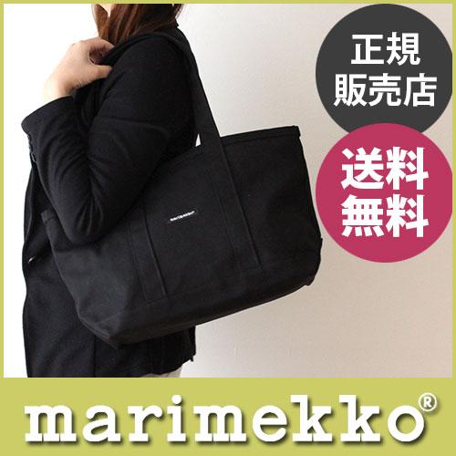 【 送料無料 】【 正規販売店 】マリメッコ ( marimekko ) ミニマツクリ トートバッグ / ブラック .