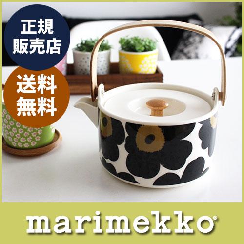 マリメッコ ( marimekko )Unikko Tea pot ( ウニッコ ティーポット )/ ブラック  .