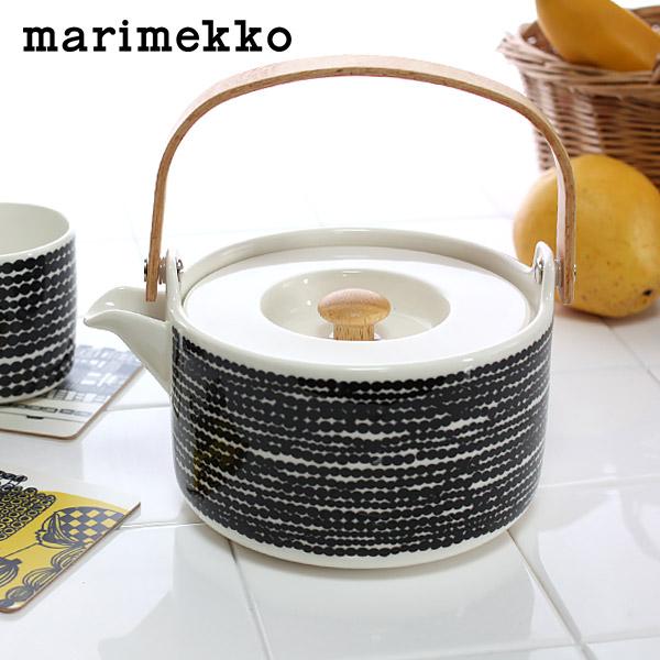 マリメッコ ( marimekko ) SIIRTOLAPUUTARHA Tea pot (シイルトラプータルハ ティーポット )/ ドット ブラック・ホワイト .