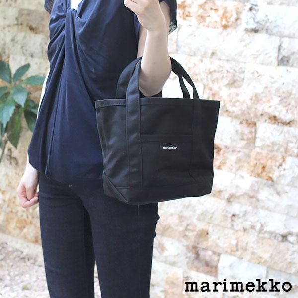 マリメッコ ( marimekko ) ミニ ペルスカッシ トートバッグ RAIDE MINI PERUSKASSI / ブラック 【 正規販売店 】
