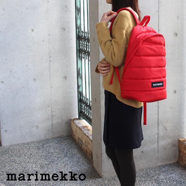 【 正規販売店 】 marimekko ( マリメッコ ) Lolly バックパック リュック / レッド 【ラッピング・のし不可】【あす楽】.