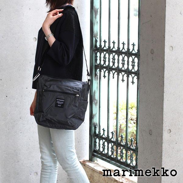 マリメッコ ( marimekko ) パル ( Pal ) ショルダーバッグ / チャコールグレー 【 正規販売店 】