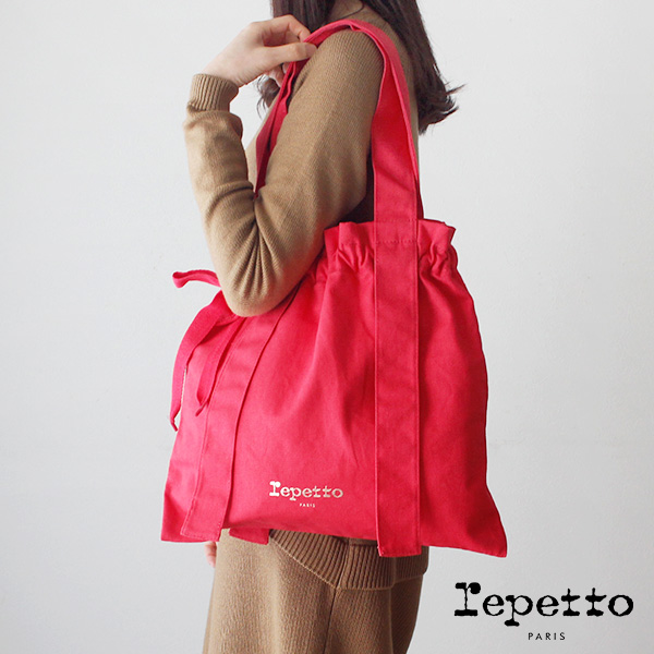 レペット ロンド トートバッグ / ピンクフルーツ repetto Rondo tote bag with knots Pink fruit  【 B0333T 】【 正規販売店 】
