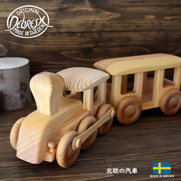 知育玩具 木のおもちゃ DEBRESK( デブレスカ )北欧の 汽車 .