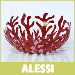ALESSI ( アレッシー アレッシィ ) Mediterraneo メディテラーネオ フルーツホルダー / 29cm レッド.