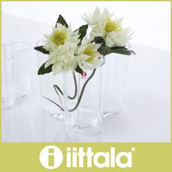 イッタラ ( iittala ) Aalto Vase ( アアルト ベース )フラワーベース 120mm / クリア .