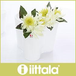 イッタラ ( iittala ) Aalto Vase ( アアルト ベース )フラワーベース 120mm / ホワイト .