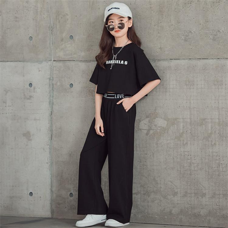 キッズダンス衣装 ダンス ヒップホップ トップス K-POP セットアップ カッコイイ へそだし キッズ ダンス衣装 セットアップ へそ出し k-pop ヒップホップ ジャズ 女の子 ストリート 原宿 セットアップ 女の子 スーツ風 黒シャツ 黒パンツ 舞台 韓国 ダンスウェア 演出服 おしゃれ ステージ 発表会
