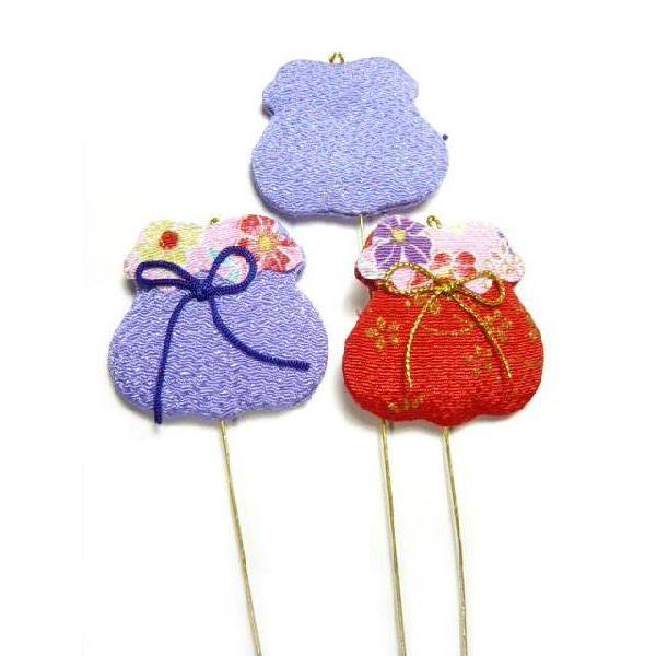 ちりめん正月飾り メール便対応 お正月飾り Seasonal Wrap入荷 ちりめん細工 70%OFFアウトレット 巾着袋ピック 伝統工芸 縁起物で新春を祝う 日本の伝統行事 1個