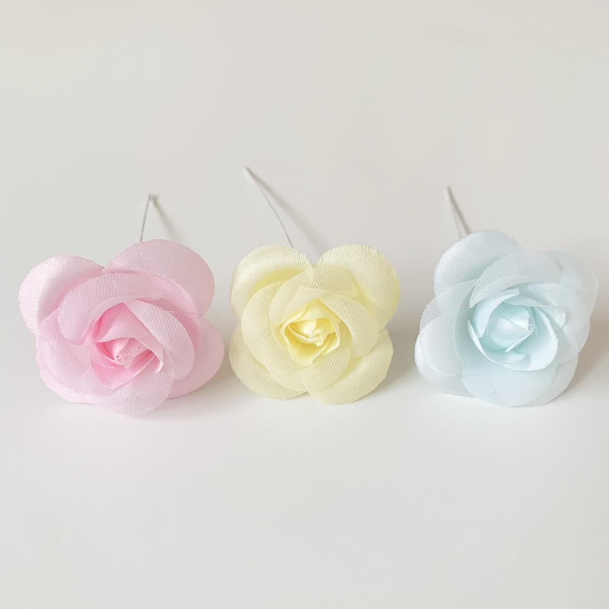 造花 メール便対応  アウトレット造花 バラ 417 ラッピング フラワー 髪飾りの作り方を動画で紹介