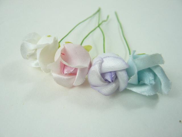 造花 メール便対応  アウトレット造花 バラ 415 ラッピング フラワー 髪飾りの作り方を動画で紹介