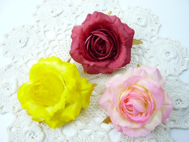 造花 メール便対応  造花 ソフトローズ大(1本) 小花 アートフラワー フェイクフラワー