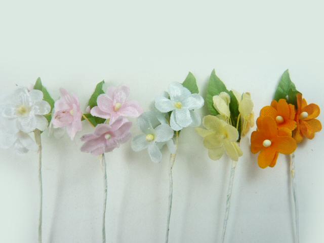 造花 メール便対応 最安値 アウトレット造花 小花208 マーケット ラッピング 髪飾りの作り方を動画で紹介 フラワー