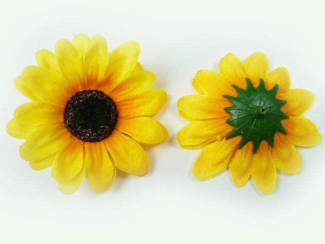 造花 メール便対応  アウトレット 造花 ひまわり 小 ヘッド(1輪) シルクフラワー