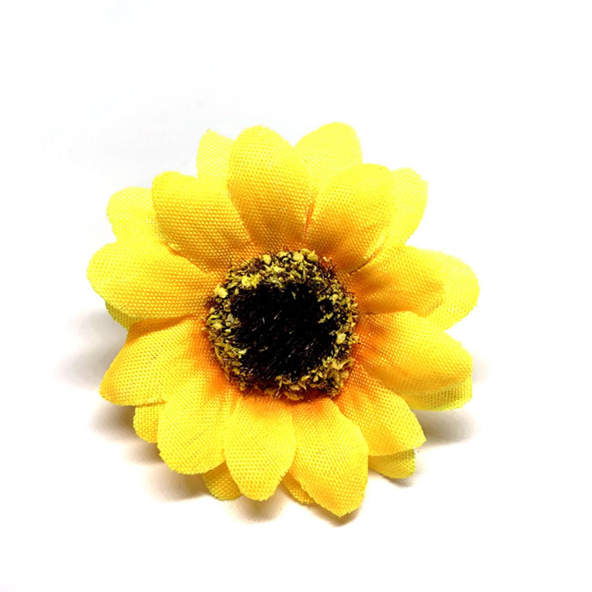 造花 メール便対応 アウトレット ひまわり ミニ 新品■送料無料■ 1輪 シルクフラワー ヘッド 商舗