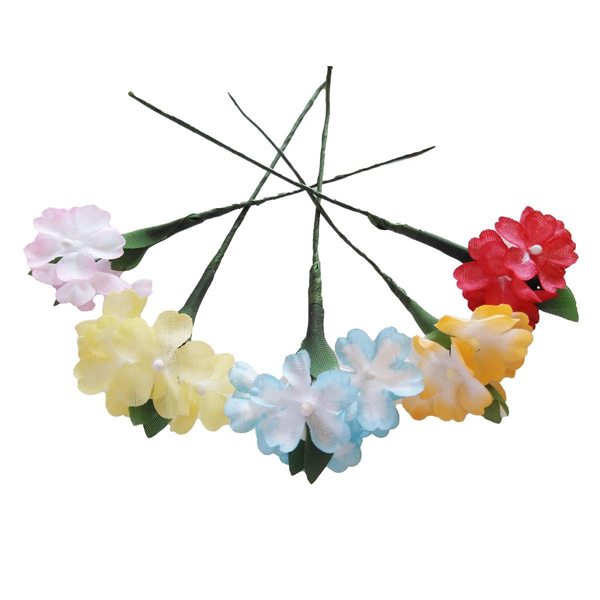 造花 メール便対応  アウトレット造花 ハイドランジア 202ボカシ ラッピング フラワー 髪飾りの作り方を動画で紹介