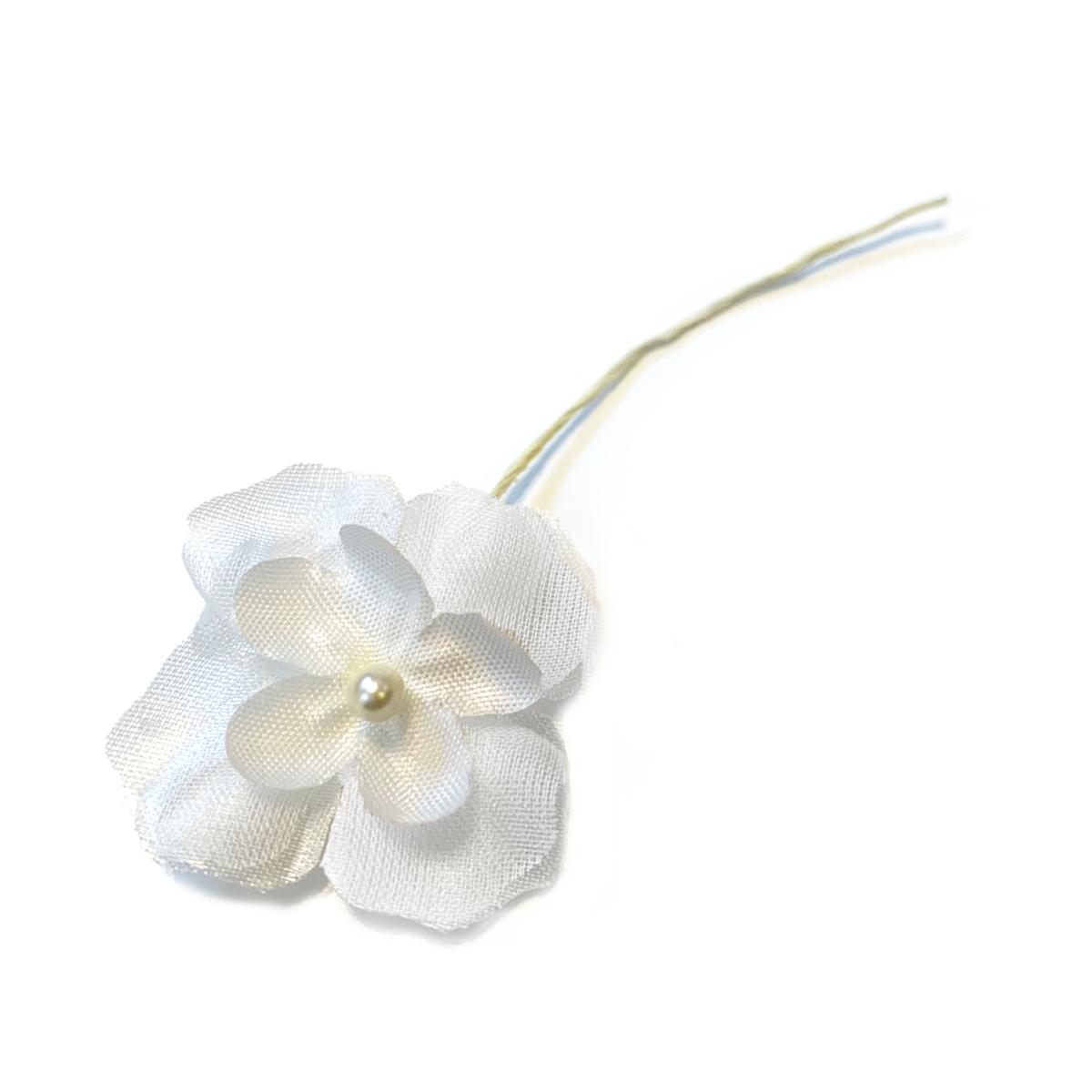与え 造花 メール便対応 アウトレット造花 Wアジサイ白 春の新作 1本