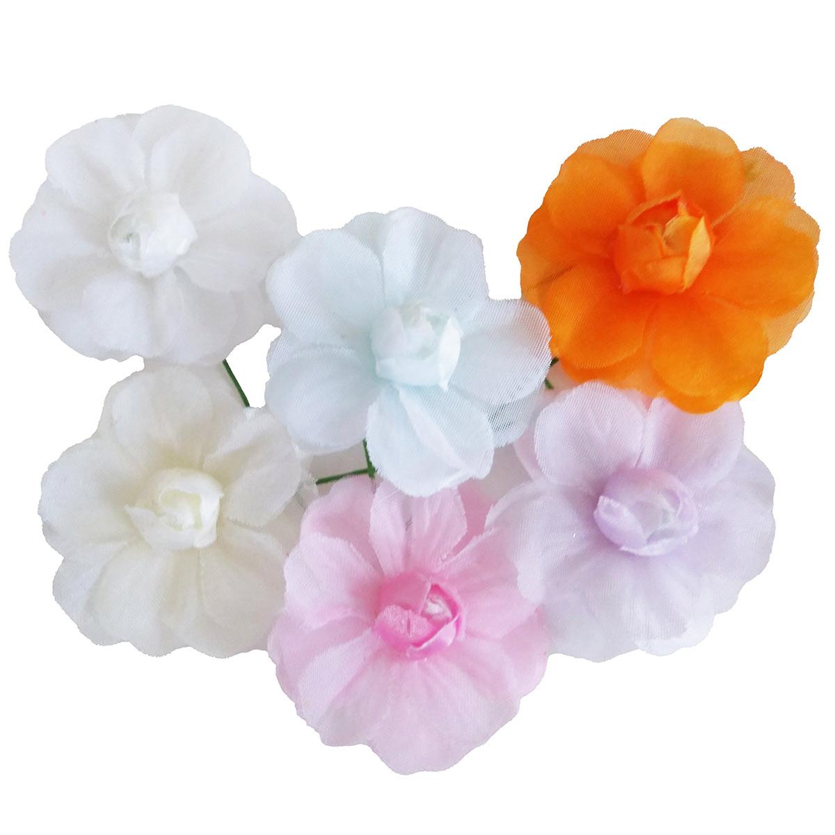 造花 メール便対応  アウトレット造花 バラ 406 ラッピング フラワー 髪飾りの作り方を動画で紹介