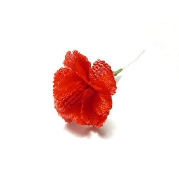 造花 メール便対応  アウトレット造花 ミニカーネーション ミニ (1本) ラッピング 母の日 フラワー
