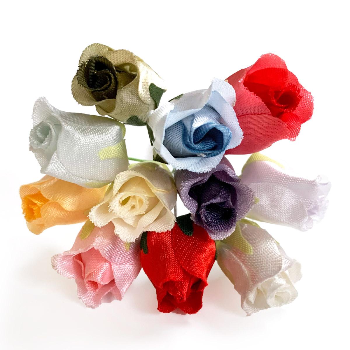造花 気質アップ 正規激安 メール便対応 アウトレット造花 蕾バラ ラッピング 髪飾りの作り方を動画で紹介 フラワー 418