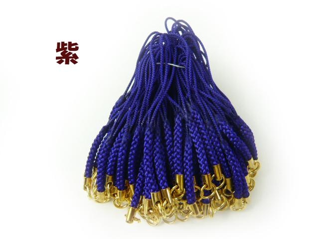 アウトレット根付紐 カツラ付 丸カン付(およそ98本から100本) 和風携帯ストラップ金具