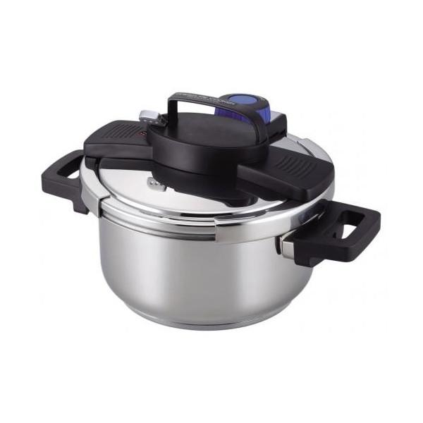 【送料無料】 パール金属 3層底ワンタッチレバー圧力鍋 4.0 HB-5388