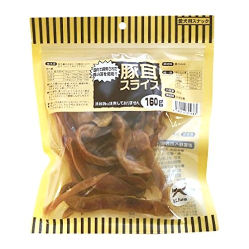 国産の原料使用 ハサミで切れないかたさ 高級な オーシーファーム 安売り 18001200 160g 豚耳スライス