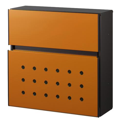 【送料無料】 エクステリアポストT12型 サンオレンジ AME-TY12 ※※ YKK デザイン 郵便ポスト 郵便受け 新築 祝い 戸建て リフォーム ※※