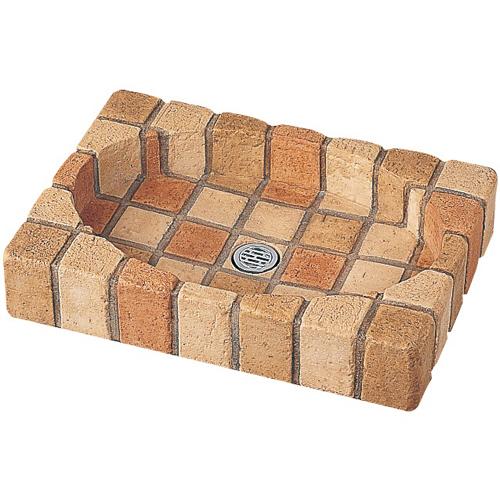 【送料無料】 NIKKO パン単体 オーバルパン(ミックス) ※※ ニッコー コンクリート レンガ調 水受け 屋外 パン ※※