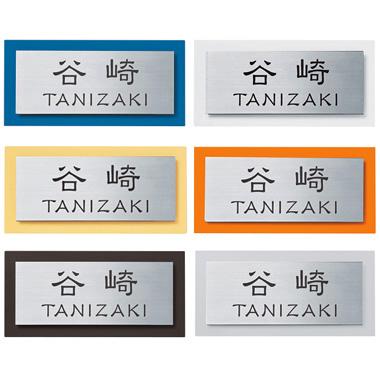 【送料無料】 スタイリッシュカラー表札(EサインYデザイン5) ※※ シンプル ステンレス 表札 サイン エクスタイル 表札 ※※
