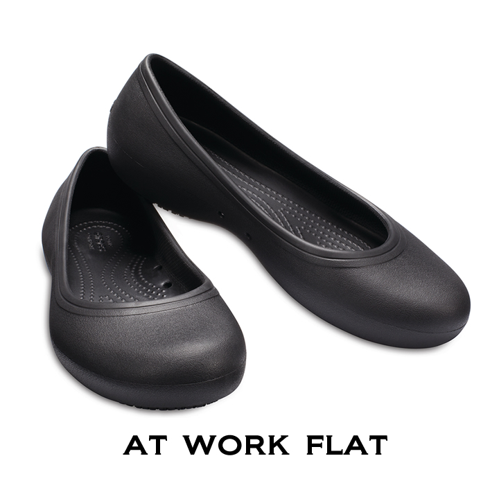 エントリーでポイント24倍【クロックス crocs レディース】at work flat/アットワーク フラット ウィメン☆☆