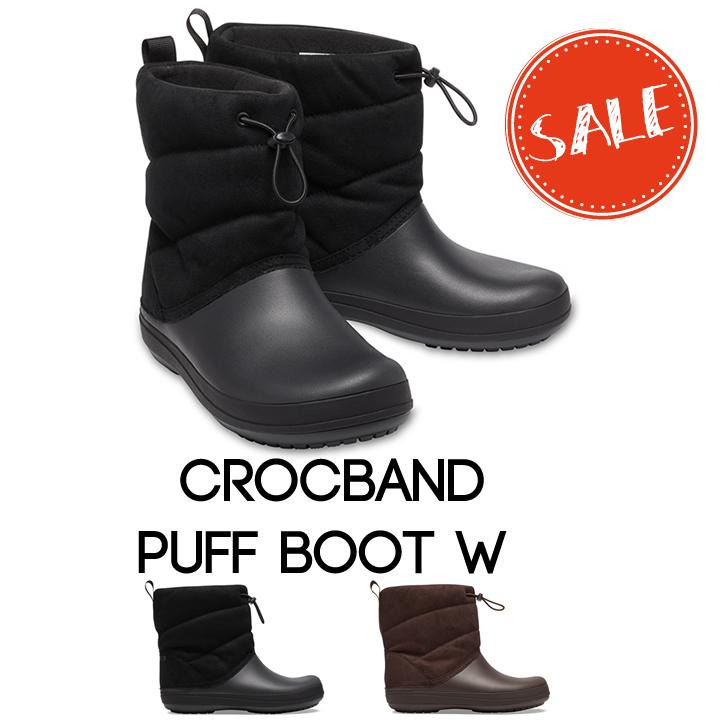 正規品 送料無料 クロックス ブーツ 倉 レディース crocs b W Puff Crocband Boot クロックバンド 供え ウィメン パフブーツ