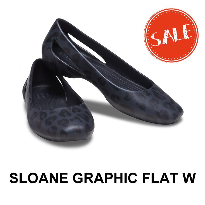 クロックス レディース SALE crocs Sloane Graphic グラフィック スローン w フラット 市販 Flat ウィメン ※アウトレット品