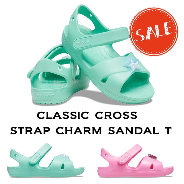 40%OFF 2021年 クロックス キッズ 市販 SALE crocs 全店販売中 Classic Cross Strap ストラップ チャーム サンダル Charm Sandal T クロス クラシック