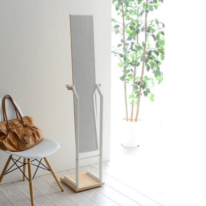 【在庫処分】ミラー スタンドミラー 鏡 全身 姿見 スタンド 木製 Rita[リタ] ナチュラル 北欧 テイスト おしゃれ スチール 黒 白