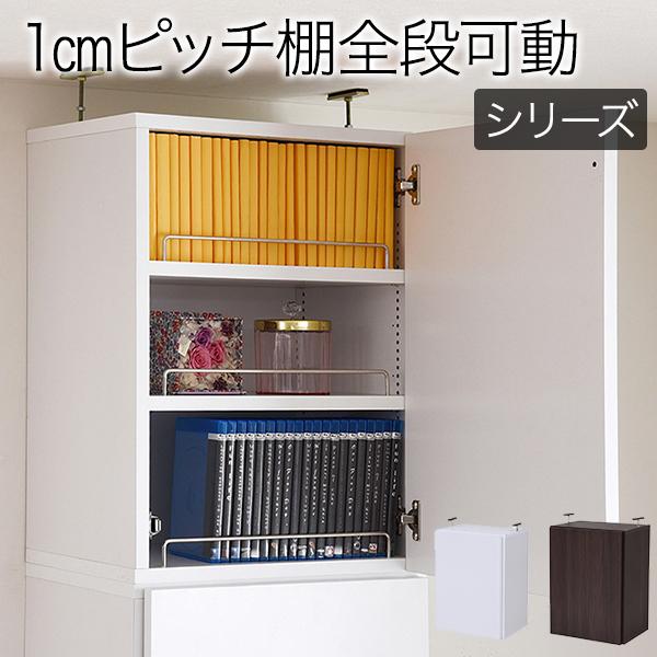 【送料無料】本棚 深型 ラック 扉付き 上置き 幅41.5 MEMORIA 棚板が1cmピッチで可動する