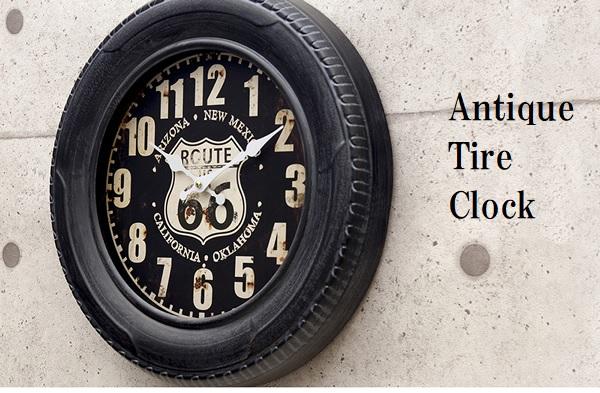 送料無料 アンティーク タイヤ クロック 壁掛時計 お洒落 時計 車 個性的 2020 新作 アメリカン セール品