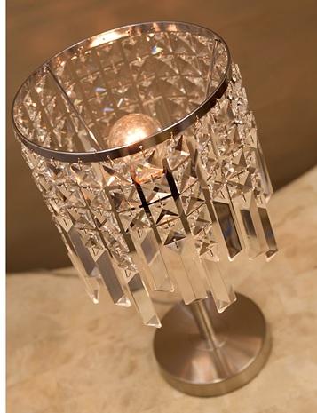 クリスタル テーブルランプ TEDY LED対応 E26/丸型 玄関 寝室 インテリア ランプ アンティーク 送料無料