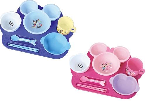 ミッキーマウス ミニーマウス まんぞくプレート ベビー 赤ちゃん 用品 ディズニー 離乳食 ショッピング お祝い セット !超美品再入荷品質至上! お食い初め ギフト ハーフバースデー 食器 送料無料