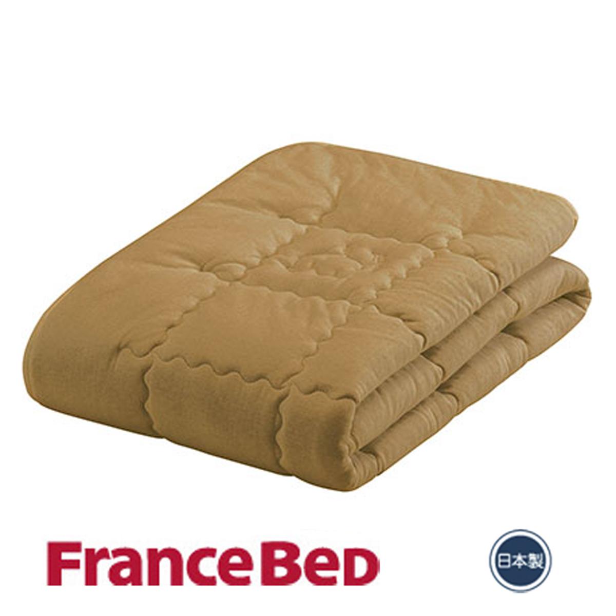 フランスベッド キャメル&ウールベッドパッド セミダブルサイズ|セミダブル フランスベット フランス ベッド ベット ウール ベッドパッド ベッドパット ベットパッド ベットパット ベッド パッド 敷きパッド 敷きパット 敷パッド 敷パット 寝具