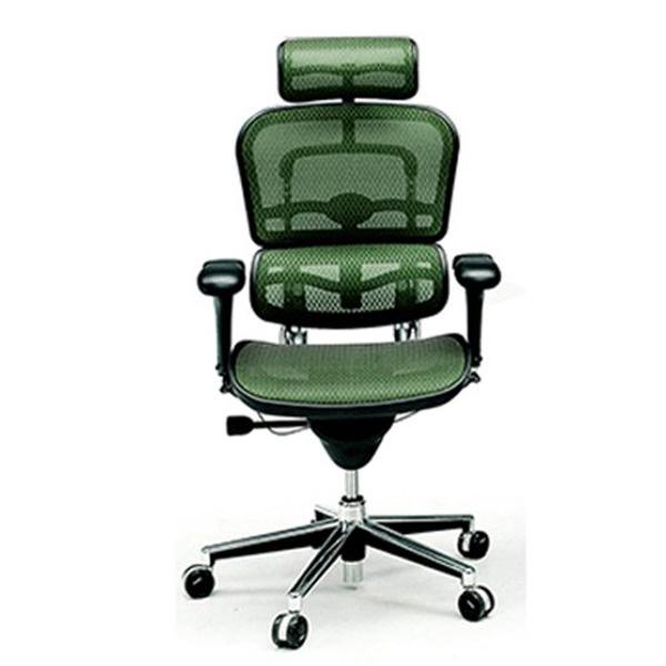 エルゴヒューマン ベーシック ハイタイプ グリーン EH-HAM GN(KM-14)|代引不可|チェア チェアー 椅子 いす イス オフィス オフィスチェア オフィスチェアー 肘 キャスター キャスター付き椅子 ハイバック メッシュ 肘付き デスクチェア ゲーミングチェア パソコンチェア