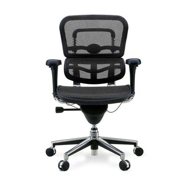 エルゴヒューマン ベーシック ロータイプ ブラック EH-LAM BK(KM-11)|代引不可|チェア チェアー 椅子 いす イス オフィス オフィスチェア オフィスチェアー 肘 キャスター キャスター付き椅子 肘付き デスクチェア パソコンチェア pcチェア 事務椅子 事務イス